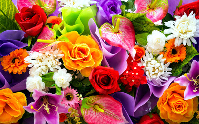 Colorful bouquet wallpaper
