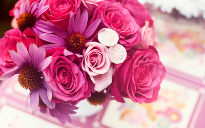 Pink bouquet wallpaper