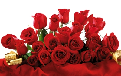 Red roses bouquet wallpaper