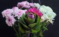 White and purple chrysanthemums bouquet wallpaper 1920x1200 jpg