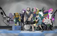 Adventure Time Team Fortress crossover wallpaper 2560x1440 jpg