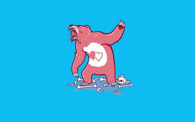 Aggressive care bear wallpaper