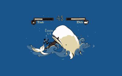 Ahab vs. Moby Dick wallpaper