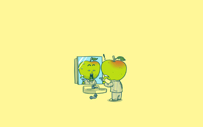 Apple shaving wallpaper