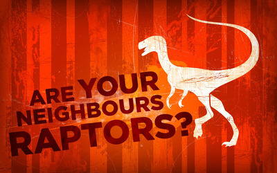 Are your neighbours raptors? wallpaper