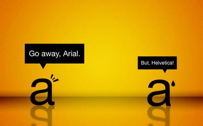 Arial vs Helvetica Wallpaper