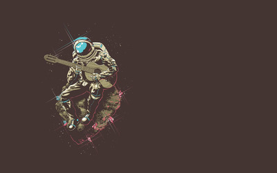 Astronaut playing the guitar [2] wallpaper