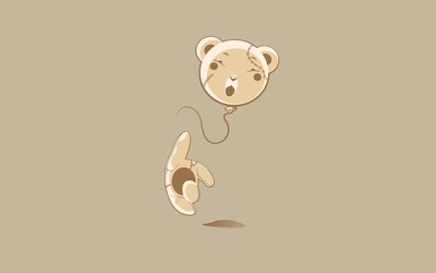 Balloon headed teddy bear wallpaper