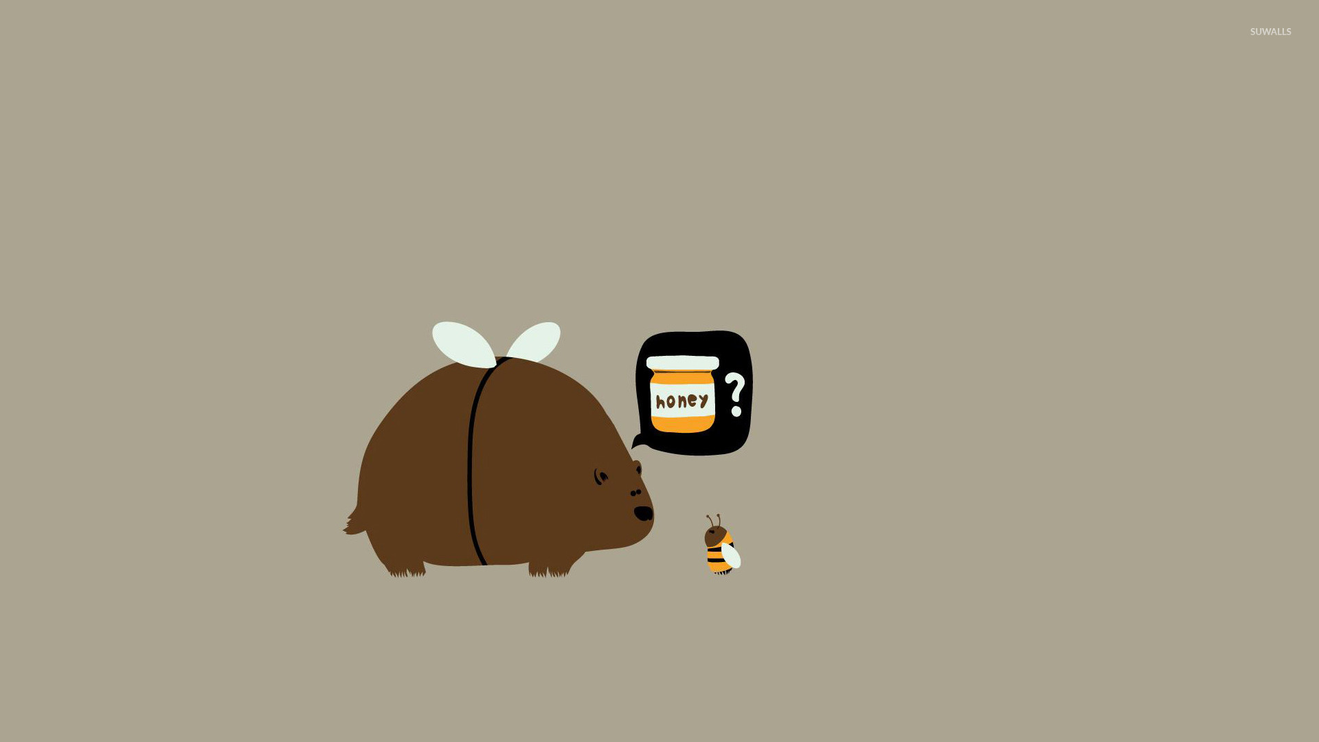 bear and bee wallpaper funny wallpapers 15618