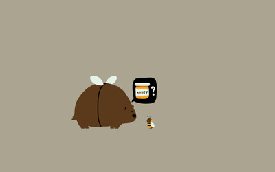 Bear and Bee wallpaper