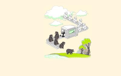 Bear printer low ink wallpaper
