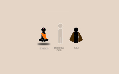 Buddha, Invisible Man and Jedi wallpaper