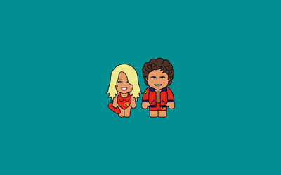C. J. Parker and Mitch - Baywatch wallpaper