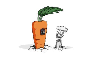 Carrot bomb Wallpaper