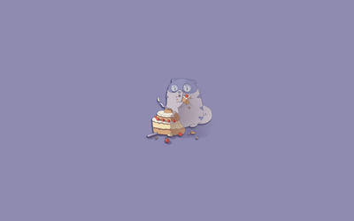 Cat eating cake wallpaper