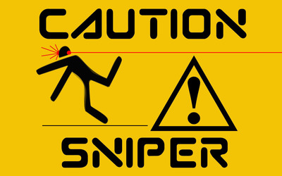 Caution, sniper wallpaper
