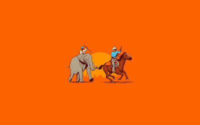 Cowboy and indian wallpaper