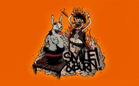 Creepy magician and his bunny wallpaper 1920x1200 jpg