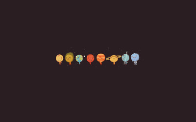 Cute Solar System wallpaper
