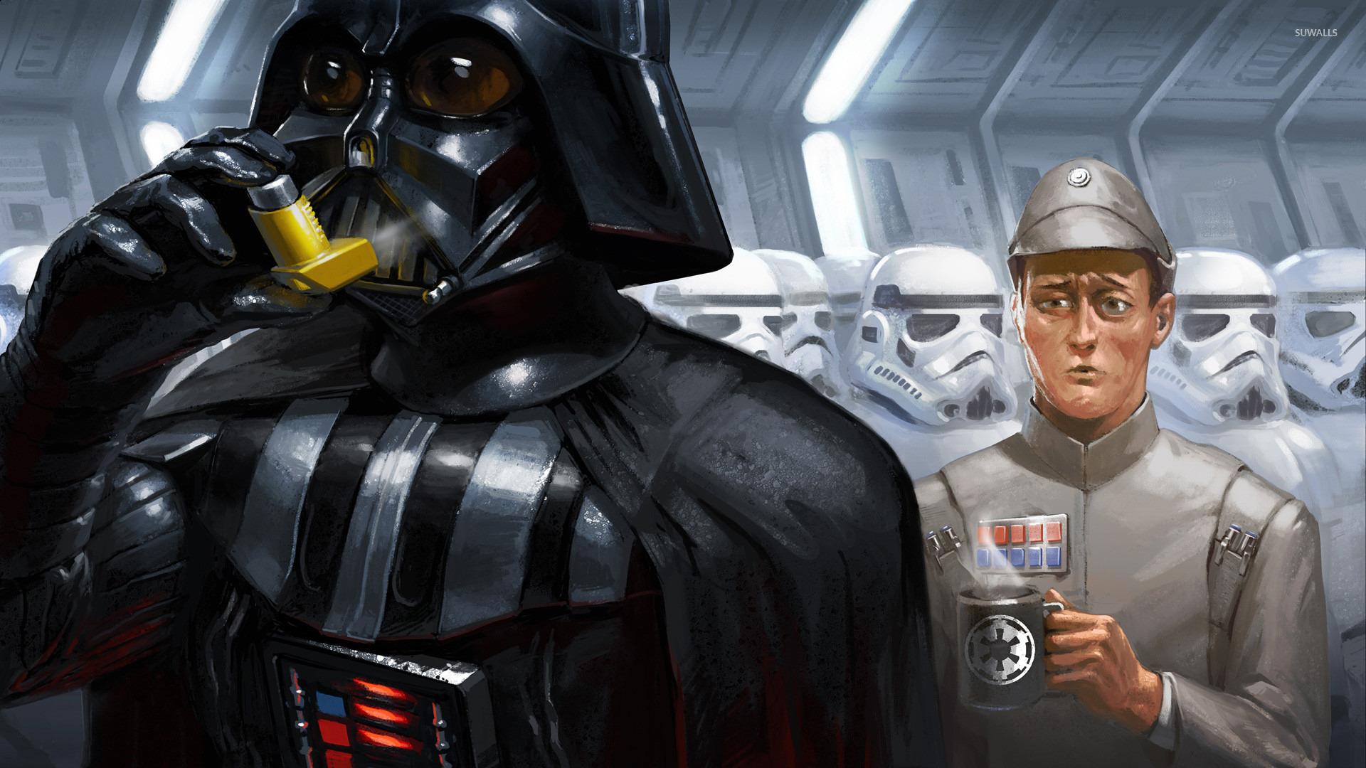 Darth Vader Inhaler Wallpaper