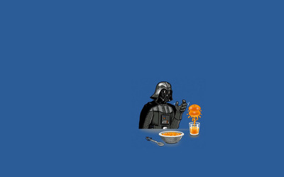 Darth Vader making orange juice wallpaper