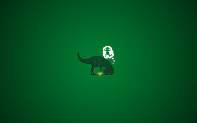 Dinosaur and magic lamp wallpaper