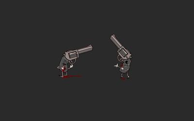 Don't bring a knife to a gun fight wallpaper