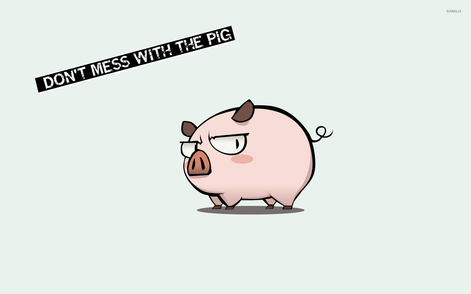 Don't mess with the pig wallpaper