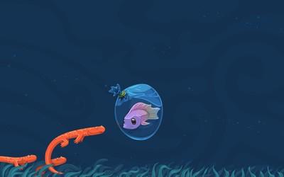 Fish in a bag wallpaper