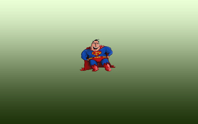 Funny caricature of Superman wallpaper