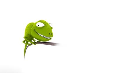 Funny chameleon wallpaper
