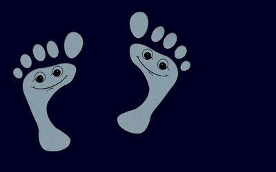 Funny footprints wallpaper