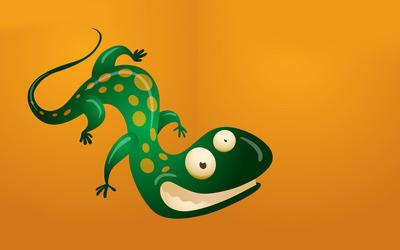 Grinning lizard wallpaper