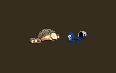 Hedgehogs [2] wallpaper