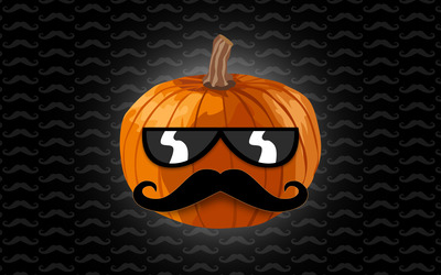 Hipster pumpkin wallpaper