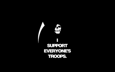 I support everyone's troops wallpaper