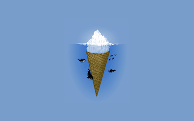 Ice cream iceberg wallpaper