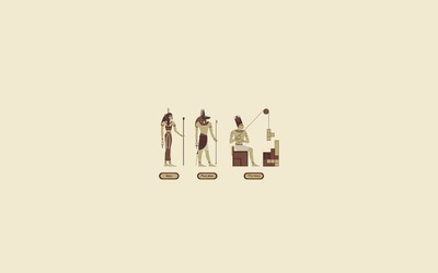 Isis, Anubis, Tetris wallpaper