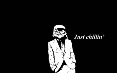 Just chillin' Stormtrooper wallpaper