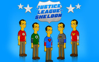 Justice league of Sheldon wallpaper 1920x1080 jpg
