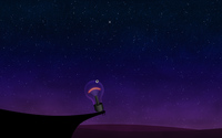 Light bulb watching the stars in the sky wallpaper 2560x1600 jpg