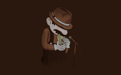 Mario playing blues wallpaper
