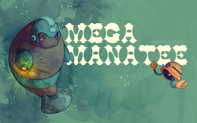 Mega Manatee wallpaper