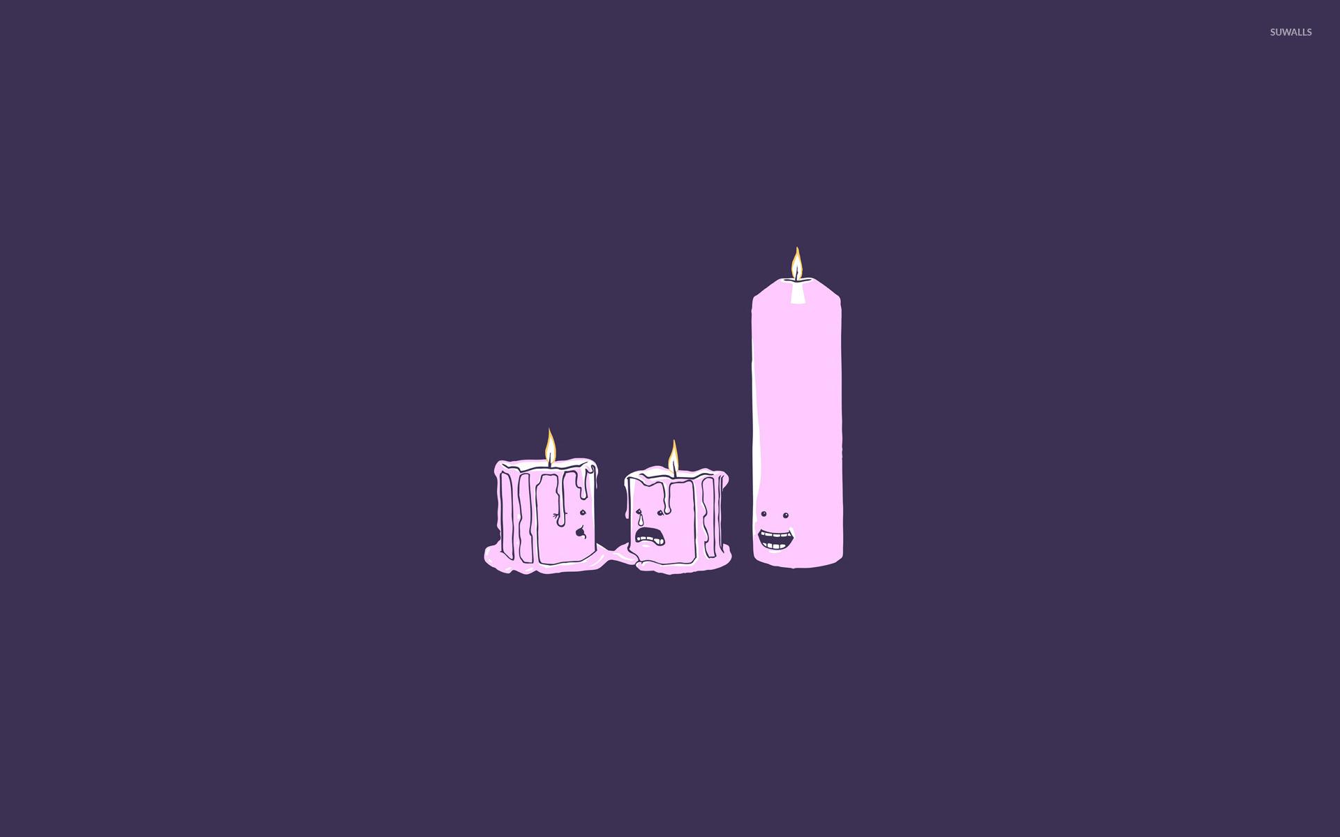 Melting candles wallpaper