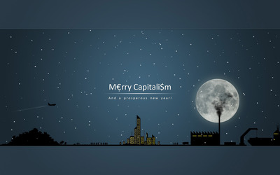 Merry Capitalism and a prosperous new year wallpaper
