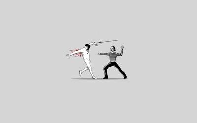 Mime fencing wallpaper