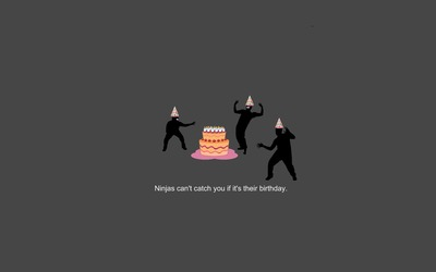 Ninjas can't catch you if it's your birthday wallpaper