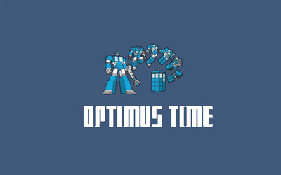 Optimus time wallpaper