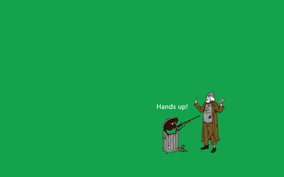 Oscar the Grouch Hold-up wallpaper