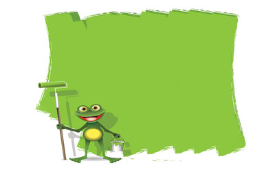 Painting frog wallpaper